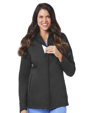BLAZE Pewter Grey Blaze Women's Warm Up Jackets 3812