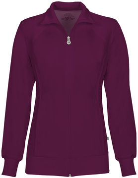 CHEROKEE Wine Cherokee Women's Warm Up Jacket 2391A
