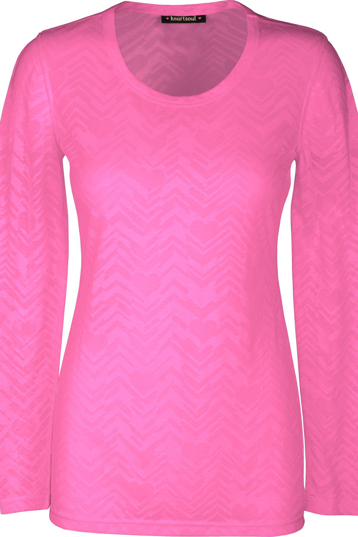 HEART SOUL Pink Heart Soul Women's Underscrub Shirt 20820