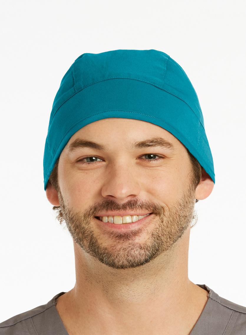 Cyan Blue Unisex Scrub Hats