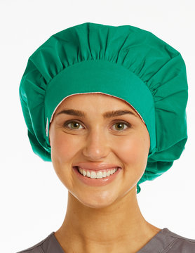 Sea Green Ladies' Bouffant Scrub Hats