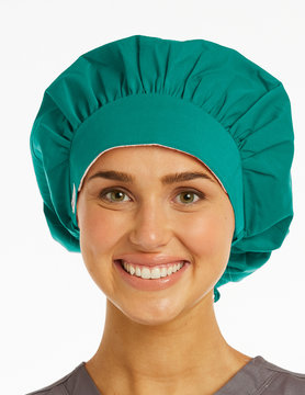 Teal Ladies' Bouffant Scrub Hats