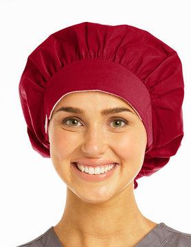 SCRUB HATS Raspberry Ladies' Bouffant Scrub Hats