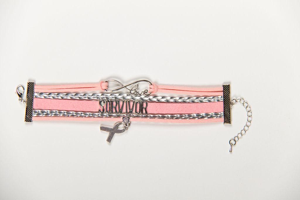 BRACELET Pink & Silver Survivor Bracelet