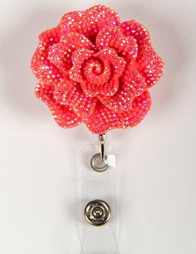 BADGE REELS Strawberry Rose Badge Reel