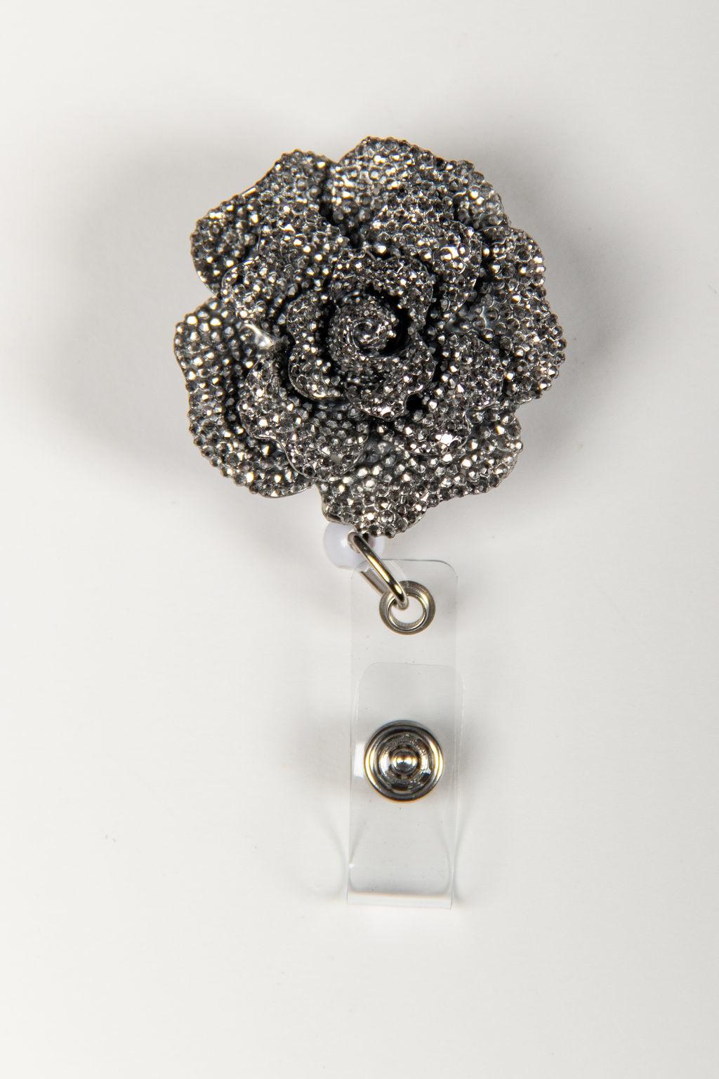 Silver Rose Badge Reels
