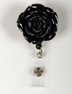 BADGE REELS Black Rose Badge Reels
