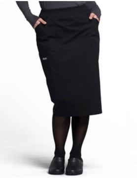 CHEROKEE WORKWEAR Black Drawstring Skirts 4509