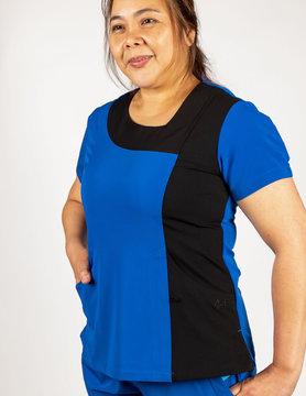 Royal Blue Excel Contrast Women's Top 619