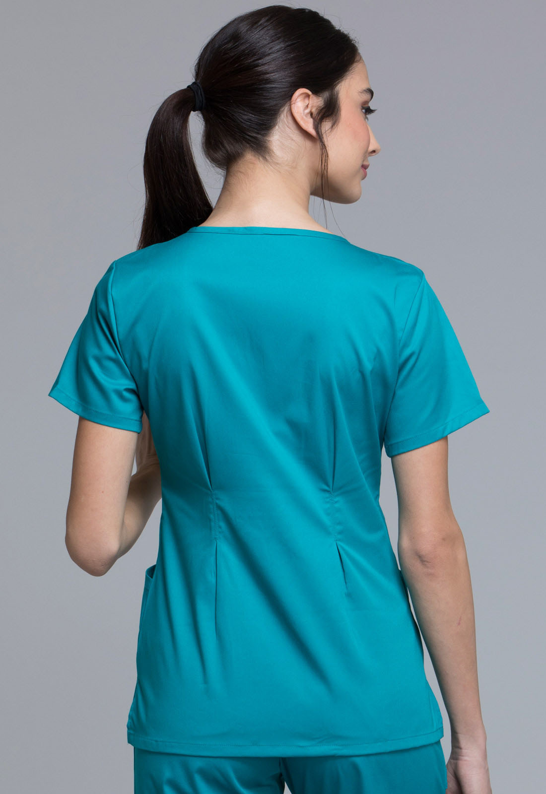 CHEROKEE Teal Crossover V-Neck Top 1999