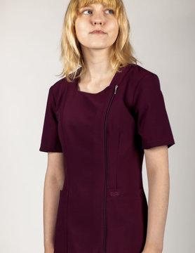 EXCEL Burgundy Full Length Zipper Women's Top 590