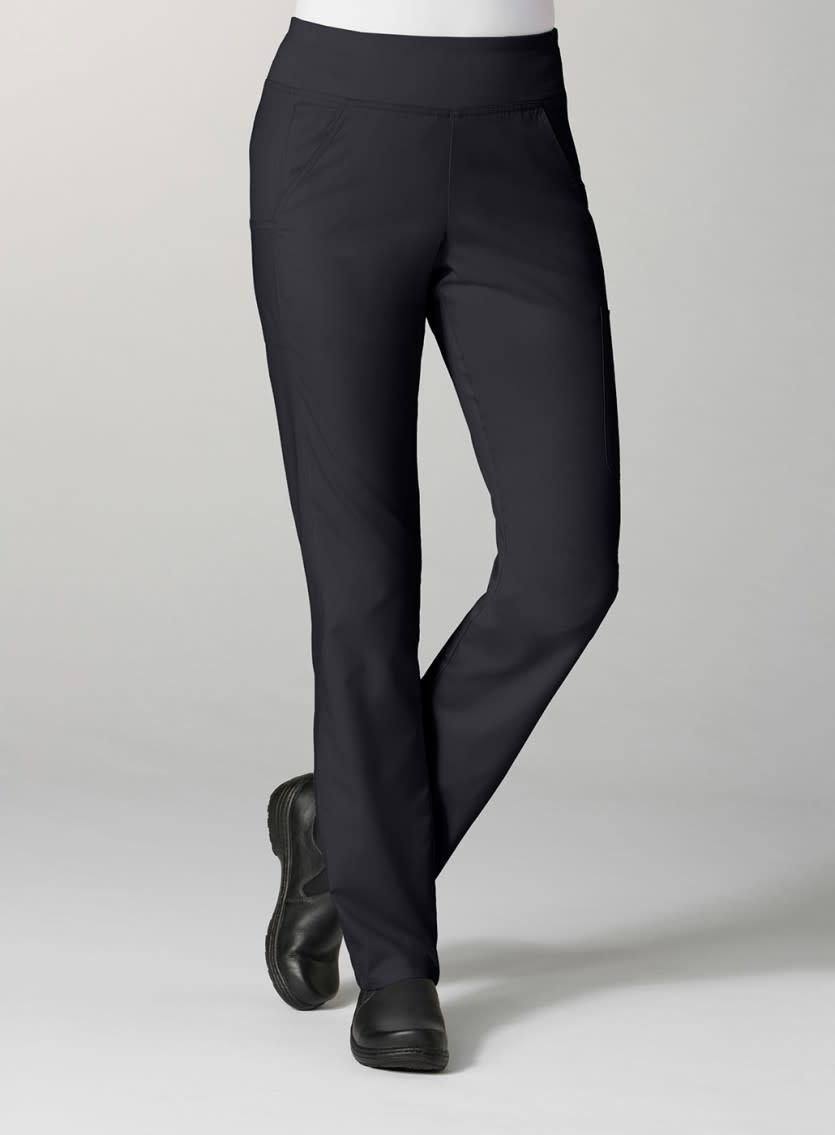 Black Pure Yoga 7-Pocket Women's Scrub Pants 7338
