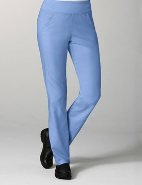 EON Ciel Blue Pure Yoga 7-Pocket Women's Scrub Pants 7338
