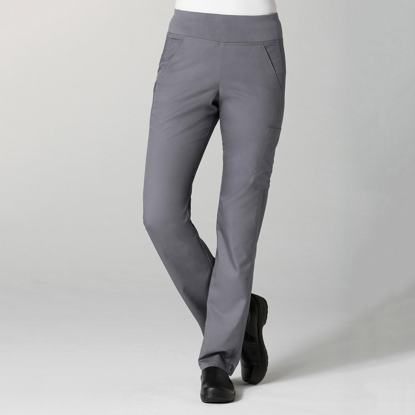 Pewter Grey Pure Yoga 7-Pocket Women's Scrub Pants 7338