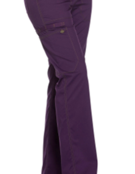 DICKIES Eggplant Mid Rise Straight Leg Women's Drawstring Pants DK106