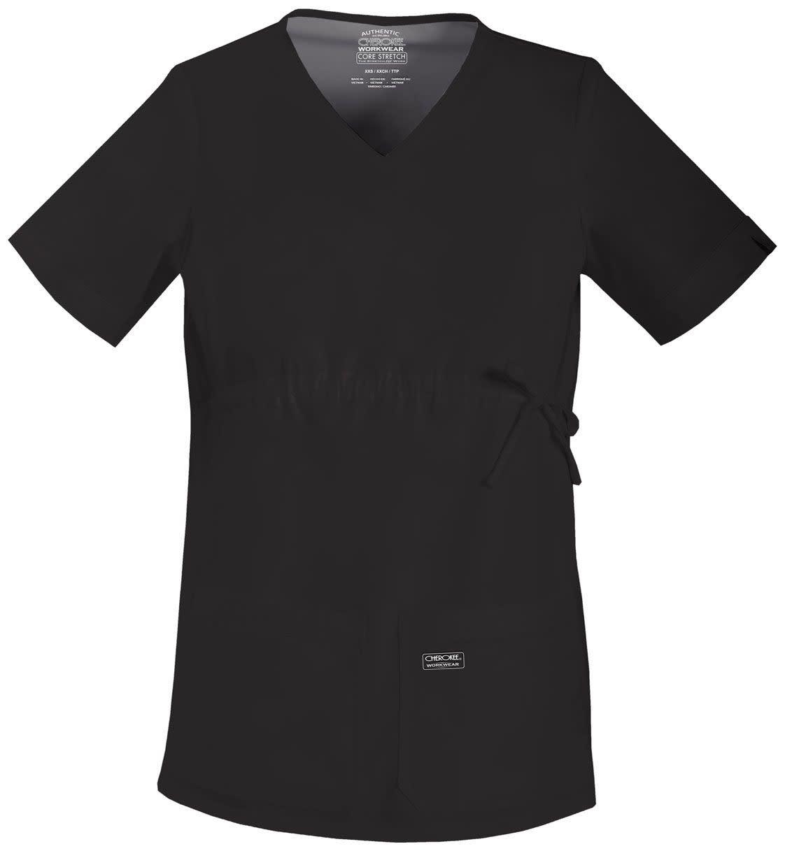 CHEROKEE WORKWEAR Black Cherokee Workwear Maternity Top 4708