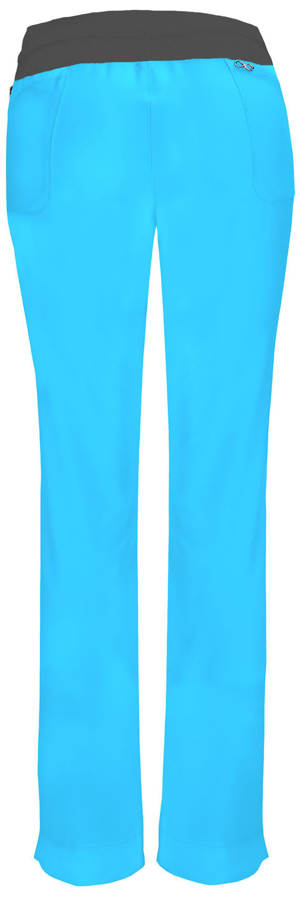 CHEROKEE Turquoise Low Rise Pull-On Women's Pants 1124A