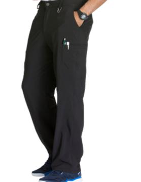 CHEROKEE Cherokee Black Men's Fly Front Scrub Pants CK200A