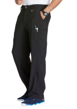 CHEROKEE Black Men's Fly Front Pants CK200A