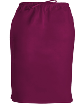 CHEROKEE WORKWEAR Wine Drawstring Skirt 4509