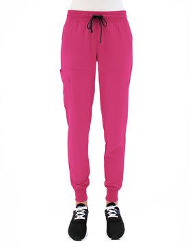 MATRIX IMPULSE Matrix Impulse Hot Pink Yoga Waistband Women's Jogger Scrub Pants 8520