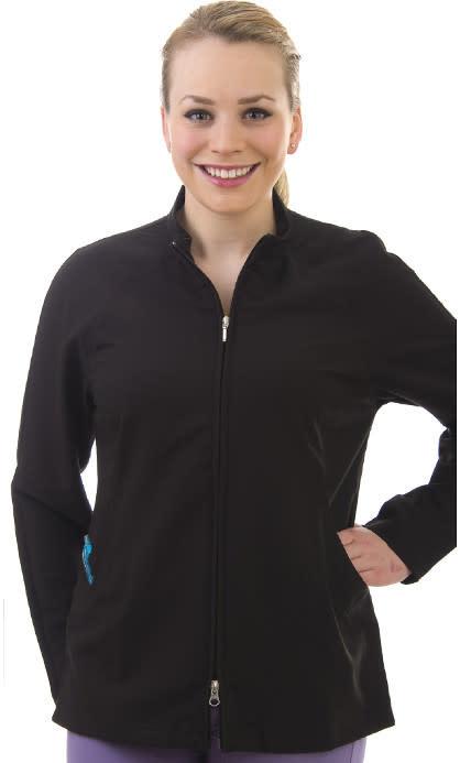 Black Mandarin Collar Women's Jacket 805