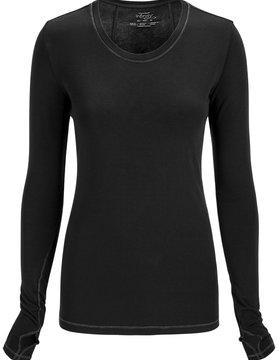 CHEROKEE Black Long Sleeve Women's Underscrub Shirts 2626A