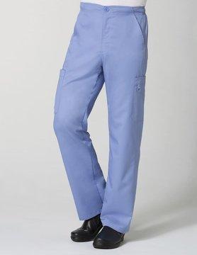 Eon Ciel Blue Men's Half Elastic 8-Pocket Tall Cargo Scrub Pants 8308T