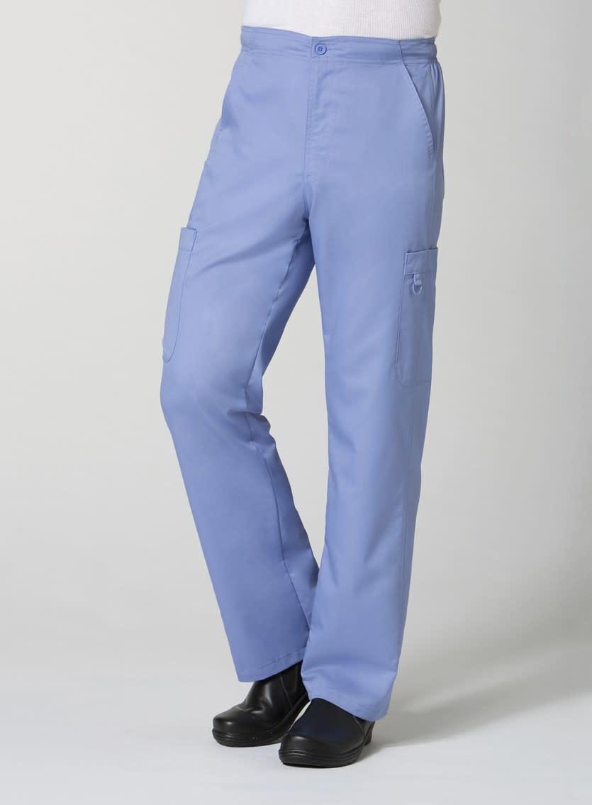 Ciel Blue Men's Half Elastic 8-Pocket Tall Cargo Pants 8308T