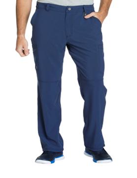 CHEROKEE Cherokee Navy Blue Men's Fly Front Scrub Pants CK200A