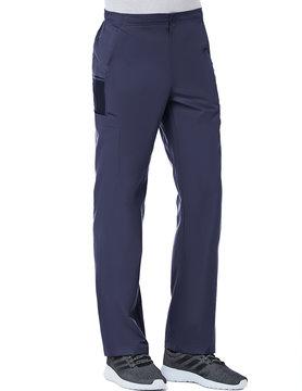 Eon Navy Blue Men's Half Elastic 8-Pocket Tall Cargo Scrub Pants 8308T