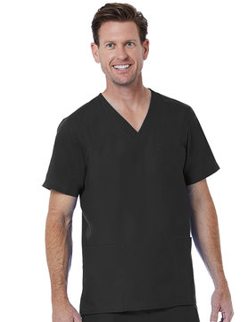 RED PANDA Black Men's V-Neck Top 5206