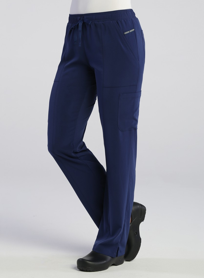 PureSoft Navy Blue Women's Reflective Tapered Pants 7901