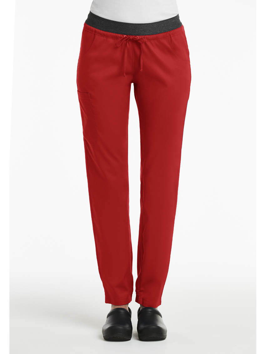 Matrix Red Women's Elastic Band Waist Jogger Pants 6701