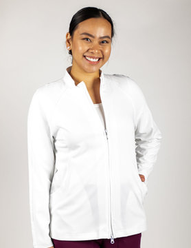 Excel White Women's Nursing Jacket 805