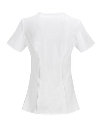 CHEROKEE White Infinity Women's Mock Wrap Top 2625A