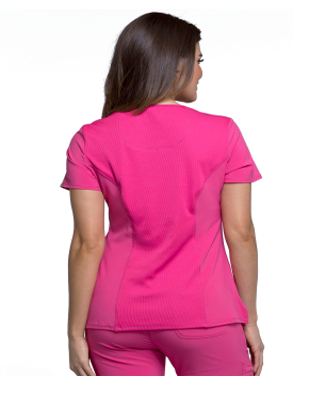 CHEROKEE Pink Infinity Women's Mock Wrap Top 2625A