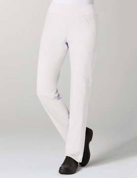 White Pure Yoga 7-Pocket Women's Scrub Pants 7338