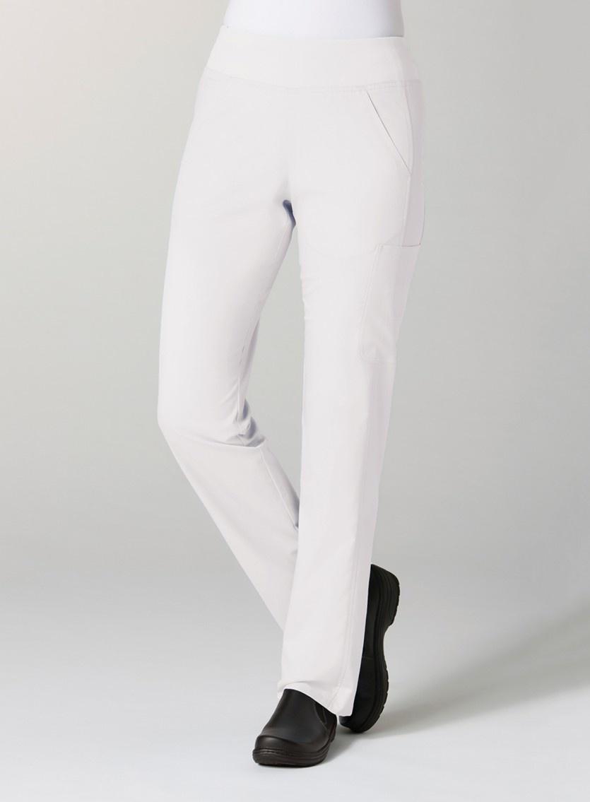 White Pure Yoga 7-Pocket Women's Scrub Pants 7338