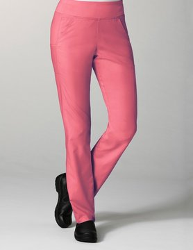 Strawberry Pink Pure Yoga 7-Pocket Women's Scrub Pants 7338
