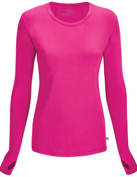 CHEROKEE Pink Long Sleeve Women's Underscrub Shirts 2626A