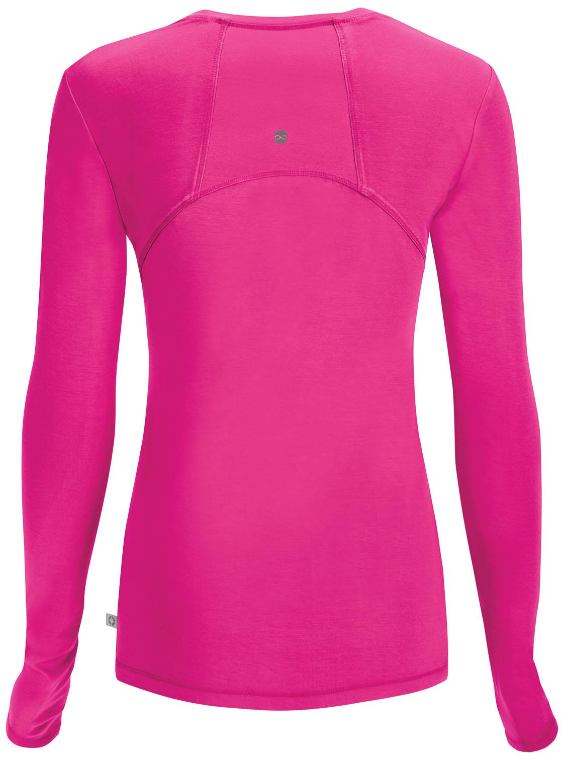 CHEROKEE Pink Long Sleeve Women's Underscrub Shirts 2626A