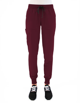 MATRIX IMPULSE Wine Yoga Waistband Petite Women's Jogger Pants 8520P