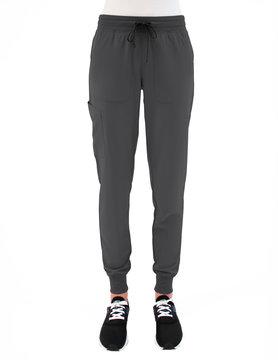 MATRIX IMPULSE Matrix Impulse Pewter Grey Yoga Waistband Women's Jogger Scrub Pants 8520