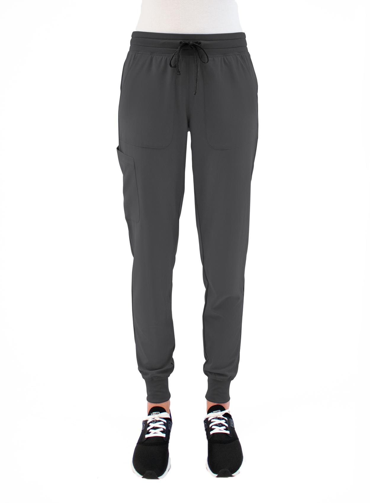 MATRIX IMPULSE Pewter Grey Yoga Waistband Women's Jogger Pants 8520