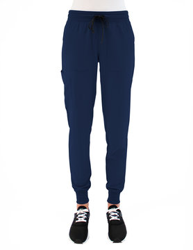 MATRIX IMPULSE Matrix Impulse Navy Blue Yoga Waistband Women's Jogger Scrub Pants 8520