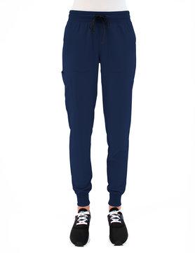 MATRIX IMPULSE Matrix Impulse Navy Blue Yoga Waistband Petite Women's Jogger Scrub Pants 8520P