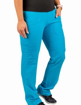 Excel Jewel Blue Women's Yoga Waistband Scrub Pants 985
