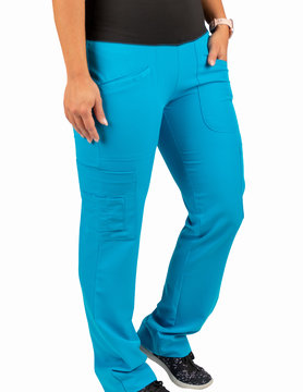 Jewel Blue Women's Yoga Waistband Pants 985
