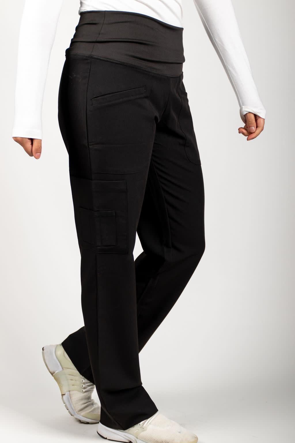 Black Women's Yoga Waistband Pants 985